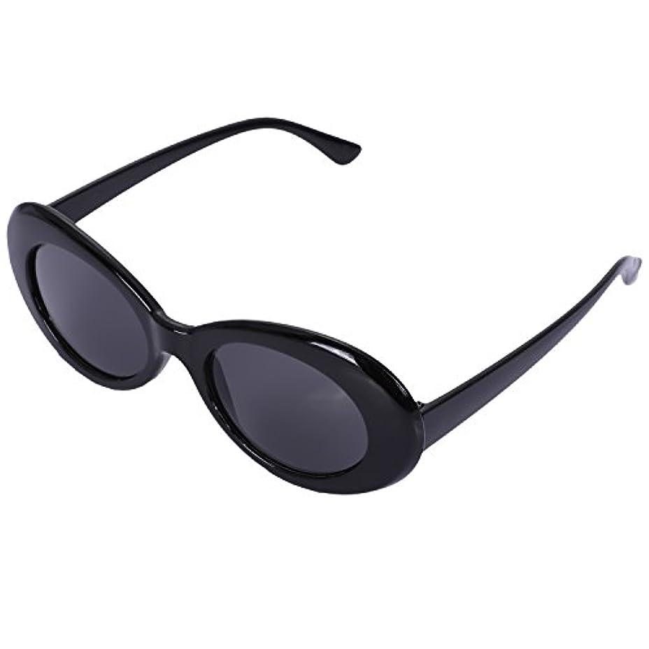 薬局チューインガム太平洋諸島RETYLY ヴィンテージ 楕円形サングラス 女性 レトロサングラス ファッション女性男性の眼鏡 UV400 日焼け止め ブラックい s17022
