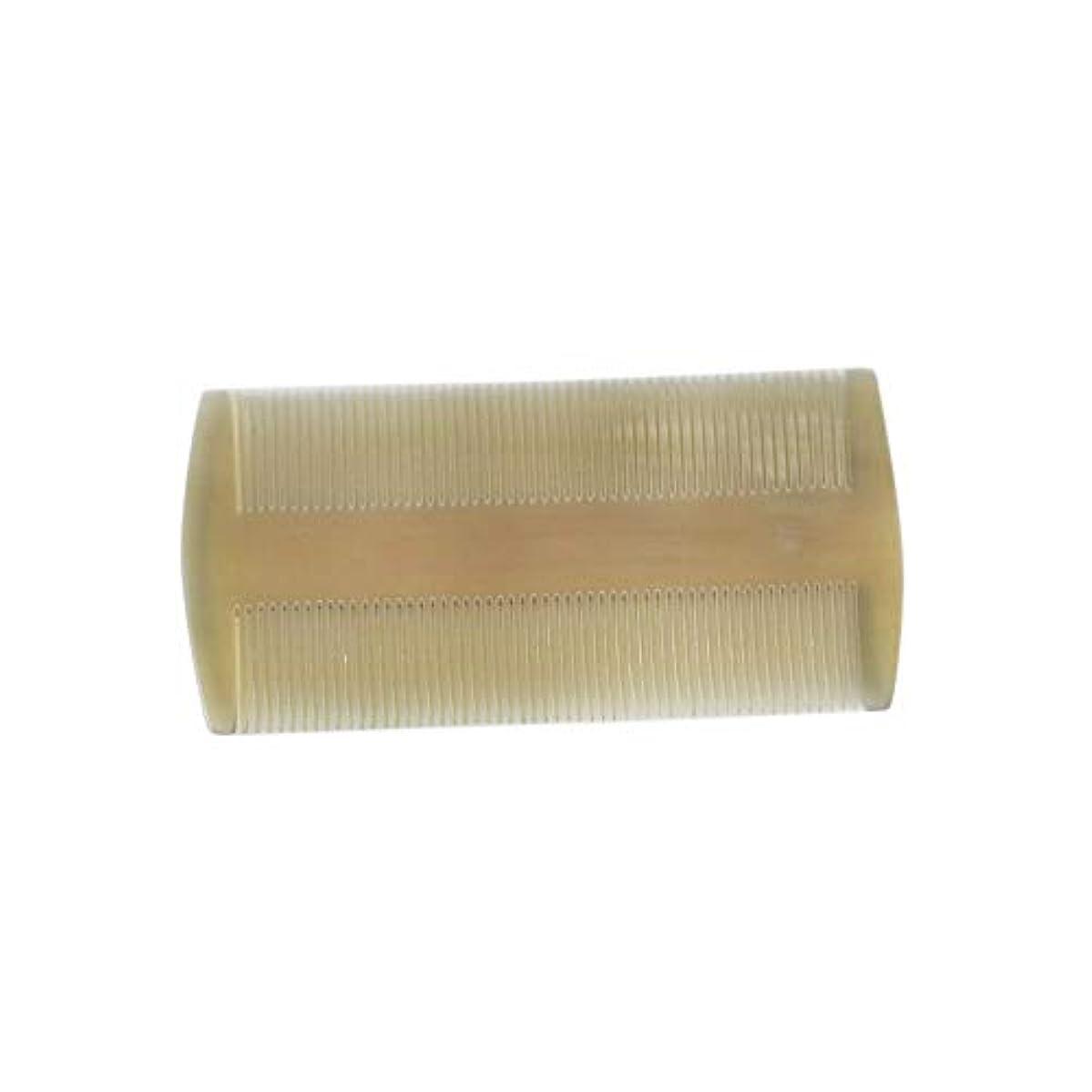 三十バター作動するFashianナチュラルバッファローホーンあごひげくし口ひげグルーミングくし帯電防止両面歯のポケットコーム ヘアケア