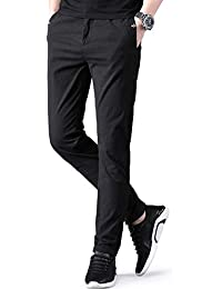 NEWHEY チノパン メンズ ストレッチ スキニーパンツ 大きいサイズ 小さいサイズ 薄手 ファッション スリムフィット 春夏物 美脚 細身 ロングパンツ 黒 灰色 ネイビー 3色