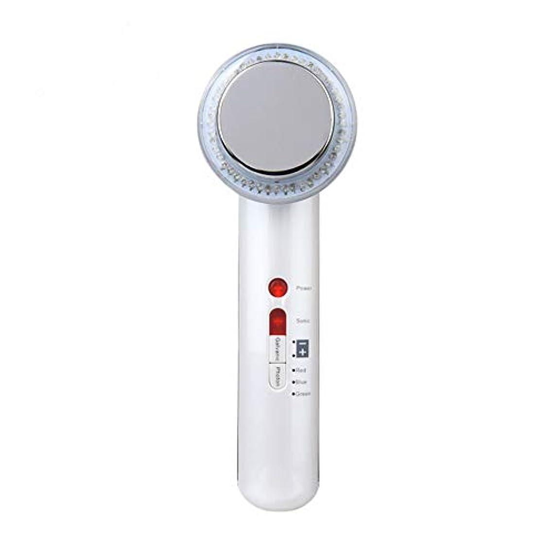 接辞魅惑する高音超音波美容器、高周波マスク機、7合1超音波赤外線LEDランプ及び6種類の顔ケア洗顔器、しわ除去、シワ防止、シワ防止