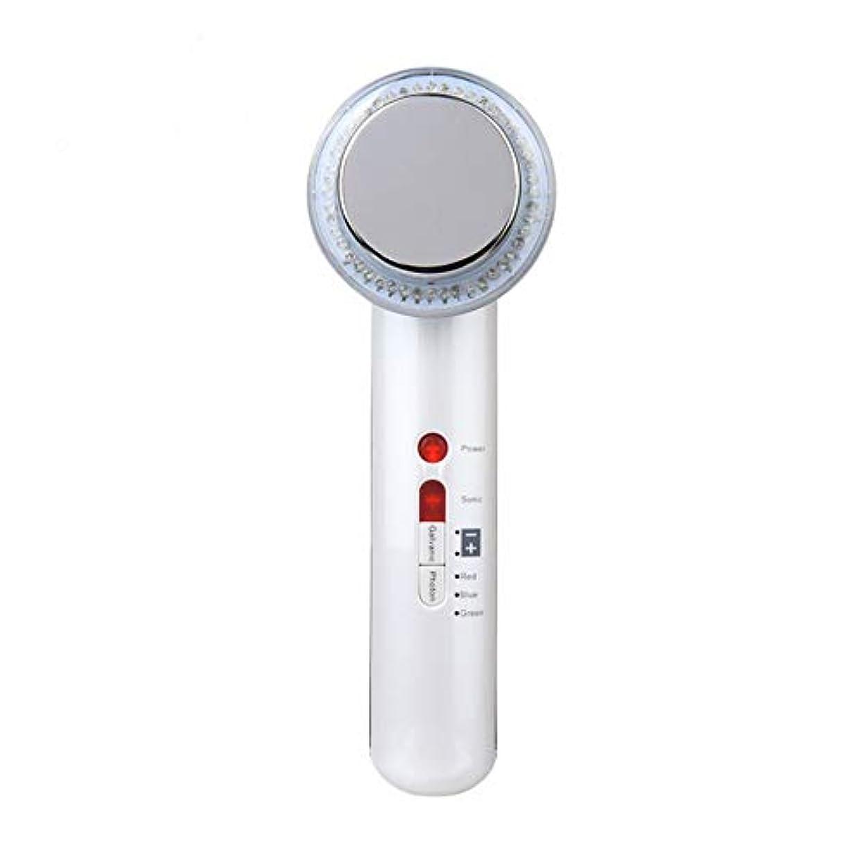 グラマー結婚式活力超音波美容器、高周波マスク機、7合1超音波赤外線LEDランプ及び6種類の顔ケア洗顔器、しわ除去、シワ防止、シワ防止