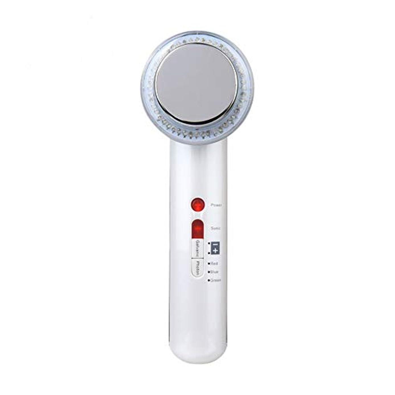 柔らかさしてはいけませんまもなく超音波美容器、高周波マスク機、7合1超音波赤外線LEDランプ及び6種類の顔ケア洗顔器、しわ除去、シワ防止、シワ防止