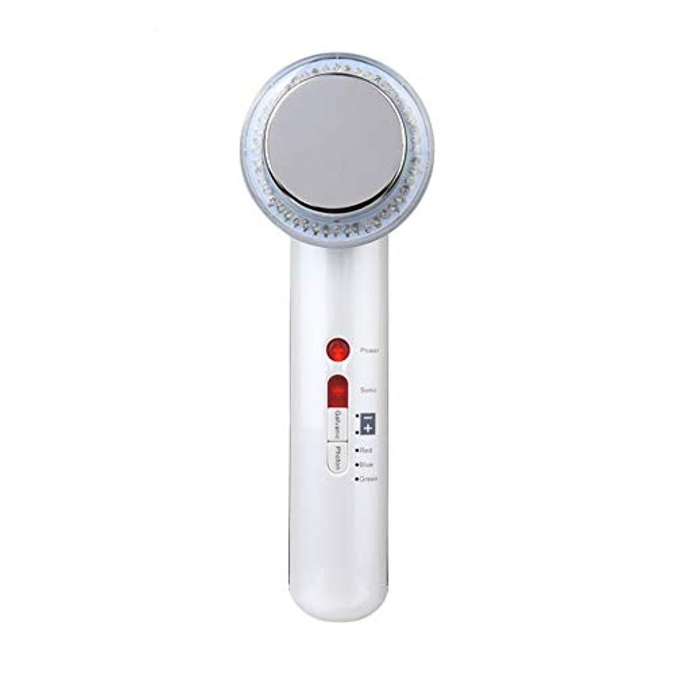 縫う特権的感嘆超音波美容器、高周波マスク機、7合1超音波赤外線LEDランプ及び6種類の顔ケア洗顔器、しわ除去、シワ防止、シワ防止