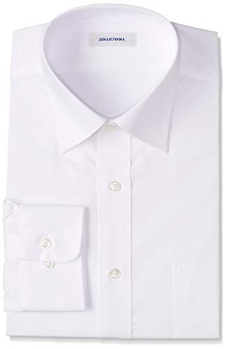 [ハルヤマ] 42サイズ展開 形態安定加工 イージーケア長袖白セミワイドカラーワイシャツ メンズ M151190001