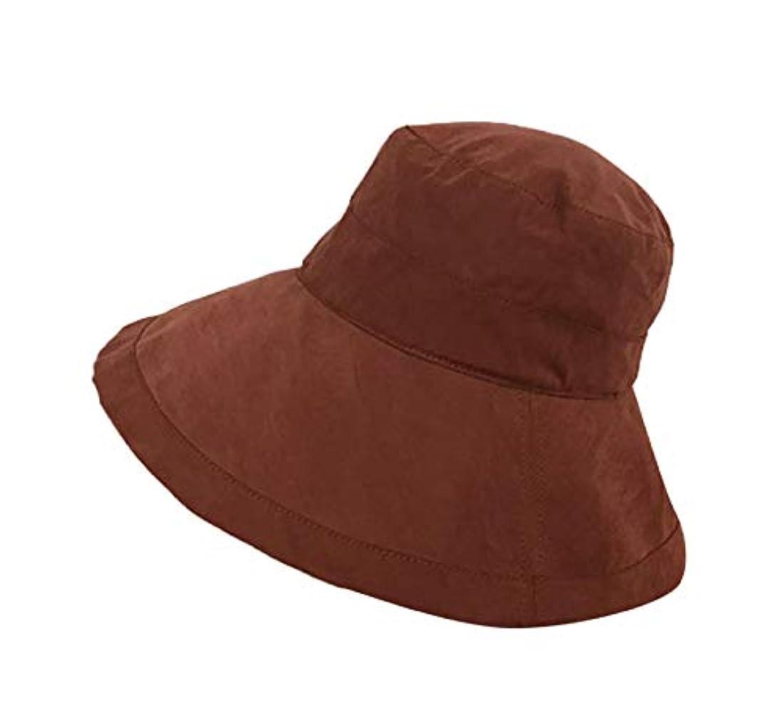 カニエンターテインメントつぶすVertily  女性の男性のための春と夏の日曜日の帽子、広いつばのバケツの帽子の防風釣帽子、野生の大きい漁師の帽子の女性、帽子ロールアップビーチキャップ日曜日の帽子