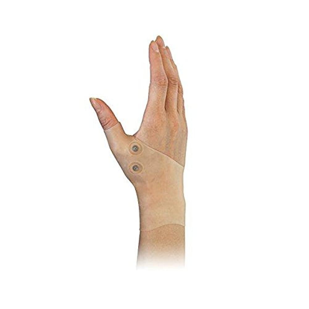 隣接する喉が渇いた王位DOMO 親指サポーター 手首サポーター 肌の色合い 磁気療法 シリコーン素材 手首ブレース 保護 弾性 洗える 捻挫 腱鞘炎 タイピング 手首と親指の痛み リウマチ 関節炎用 男女兼用