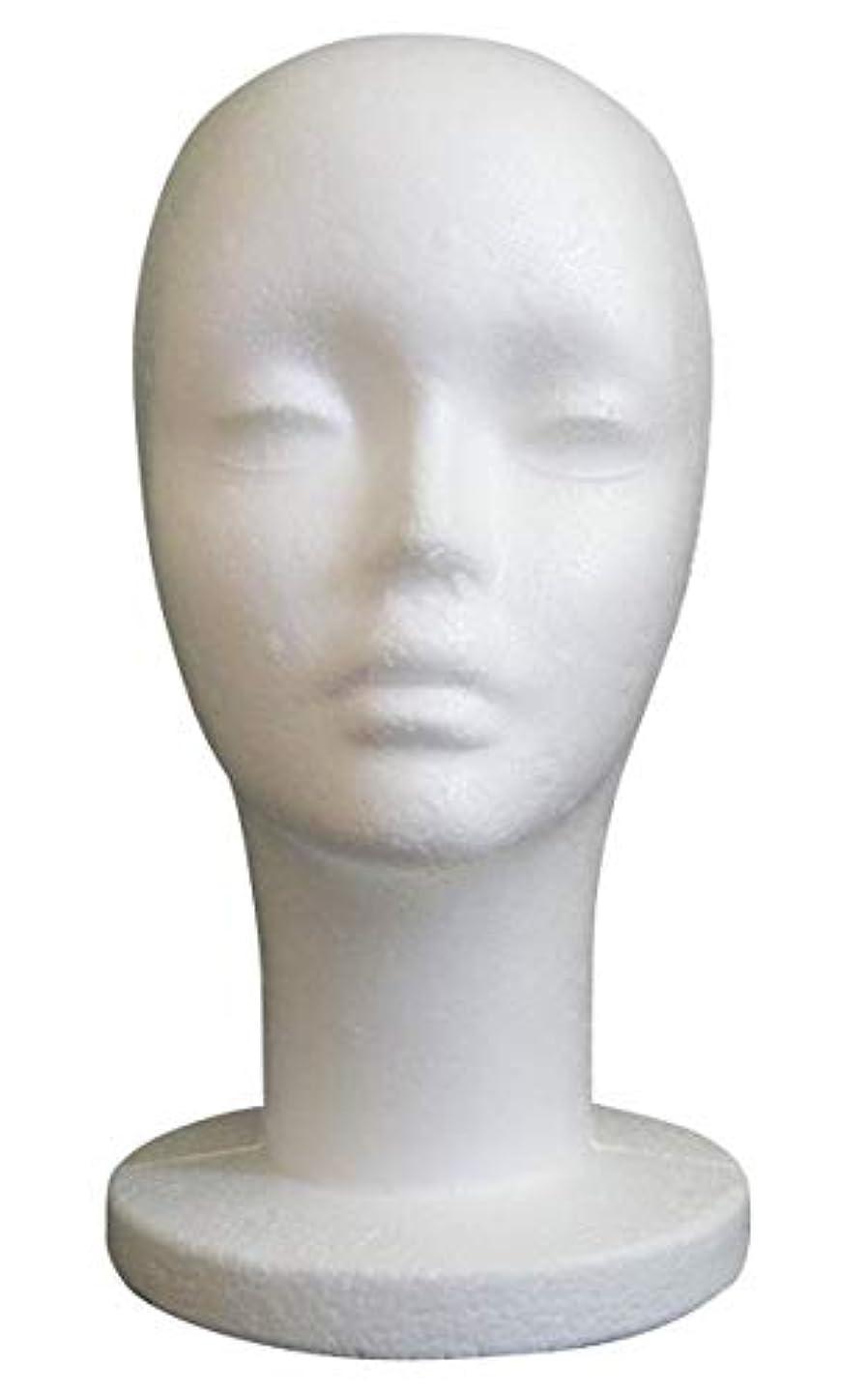 思い出させる評決害虫GJTr マネキンヘッド マネキン ヘッド トルソー 頭 ウィッグ スタンド ディスプレイ 女性 女