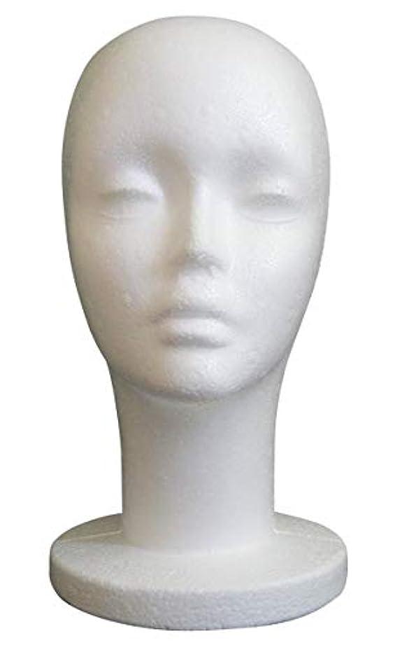 意気揚々逃れる休暇GJTr マネキンヘッド マネキン ヘッド トルソー 頭 ウィッグ スタンド ディスプレイ 女性 女