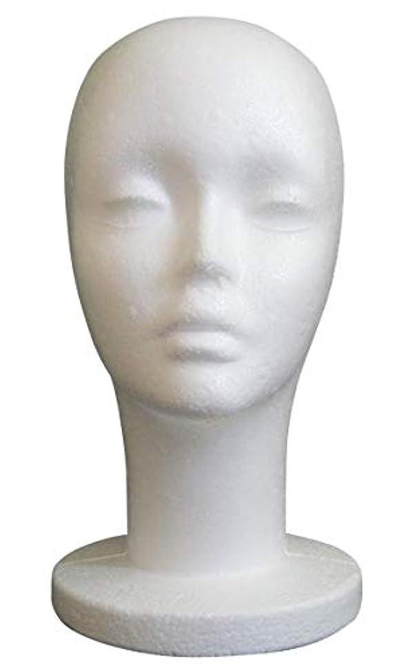 ウェイド種求めるGJTr マネキンヘッド マネキン ヘッド トルソー 頭 ウィッグ スタンド ディスプレイ 女性 女