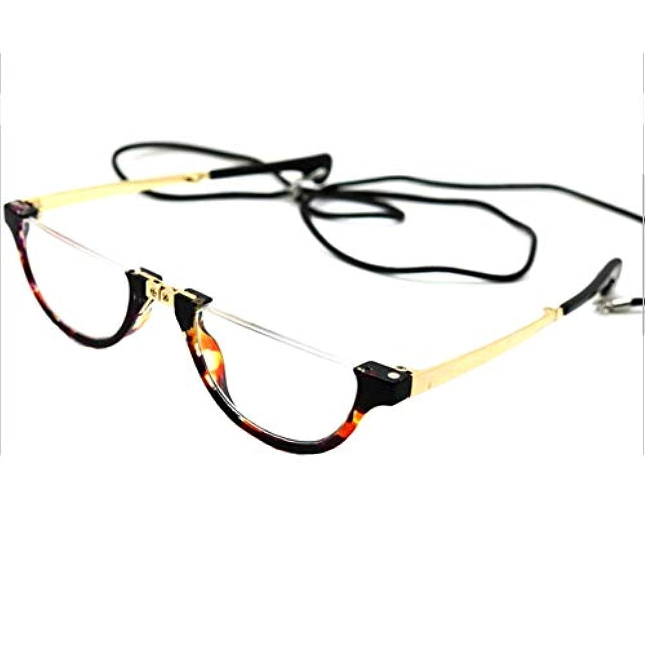 海峡恩赦めったに女性向けの高級折りたたみ老眼鏡、tr90マグネット超軽量ハーフフレームメガネ、ポータブルメガネ、疲労防止メガネボックス