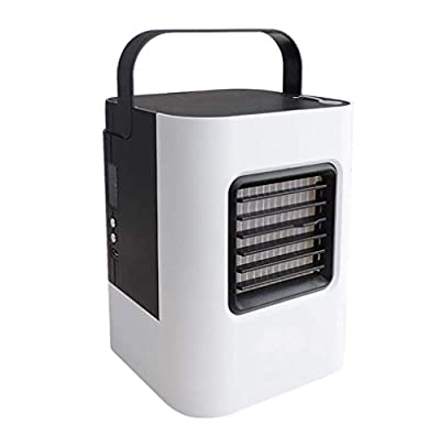 Air Cooler Mini USB Personal Air Conditioner Small cooling humidifier with movable handle, Miniature air-cooled fan, household air cooler, single cold moving small air conditioner for office, home, outdoor