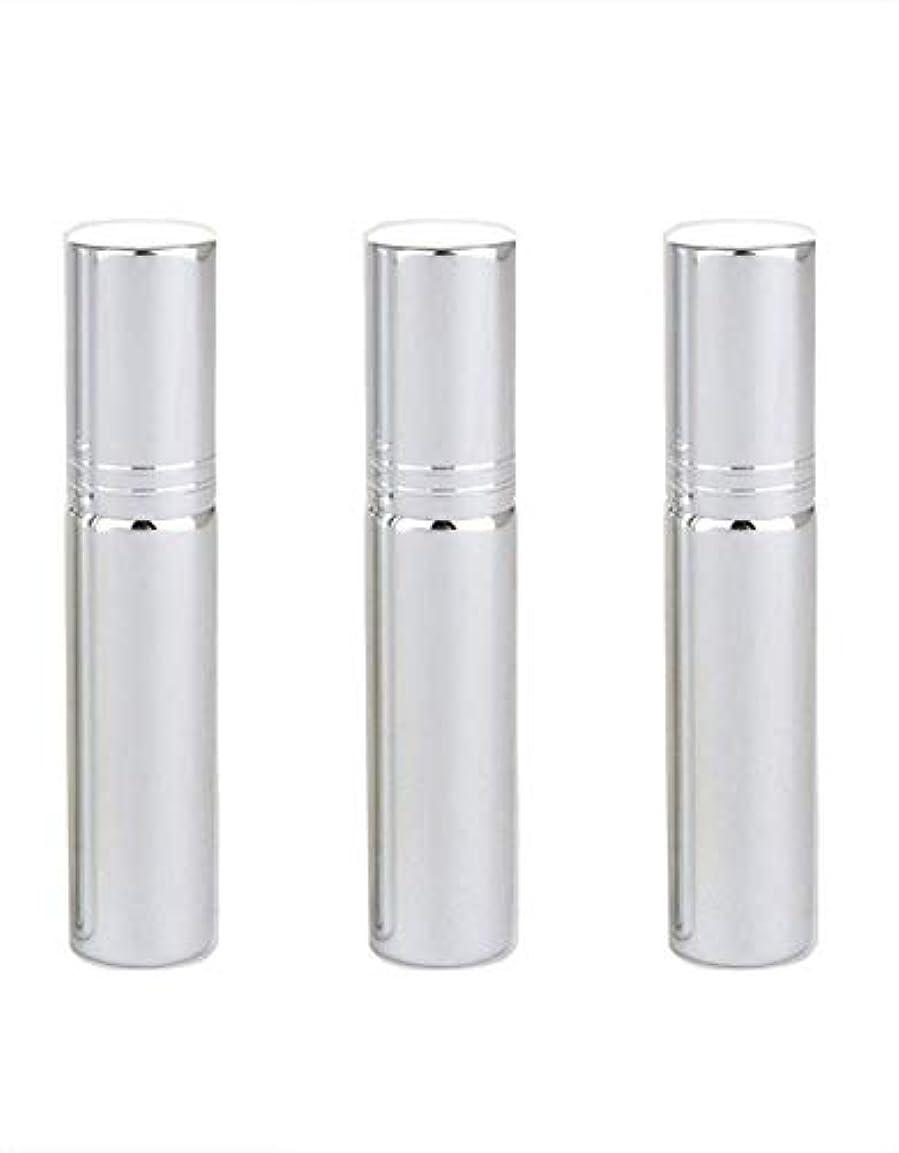 内なる欠陥霜Simg アトマイザー グラスアトマイザー 香水ボトル スプレーボトル 詰め替え容器 旅行 漏れ防止 (銀メッキ)