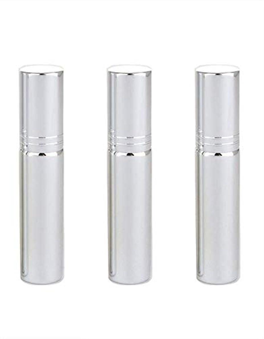 姪タックル型Simg アトマイザー グラスアトマイザー 香水ボトル スプレーボトル 詰め替え容器 旅行 漏れ防止 (銀メッキ)