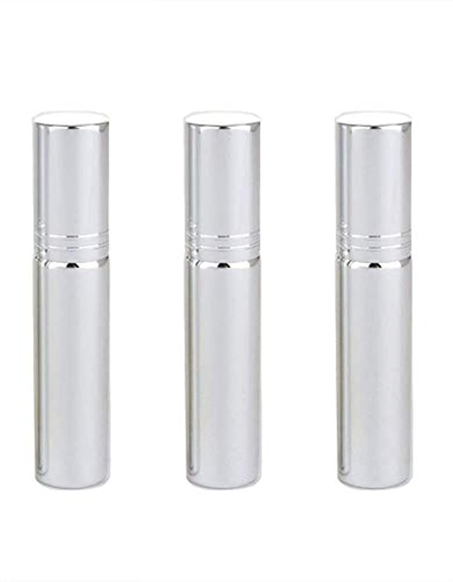 テレックスこれら良心的Flymylion アトマイザー グラスアトマイザー 香水ボトル スプレーボトル 詰め替え容器 旅行 漏れ防止 (銀メッキ)