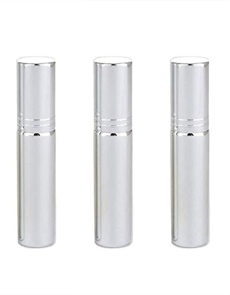 偶然のハードどちらもSimg アトマイザー グラスアトマイザー 香水ボトル スプレーボトル 詰め替え容器 旅行 漏れ防止 (銀メッキ)