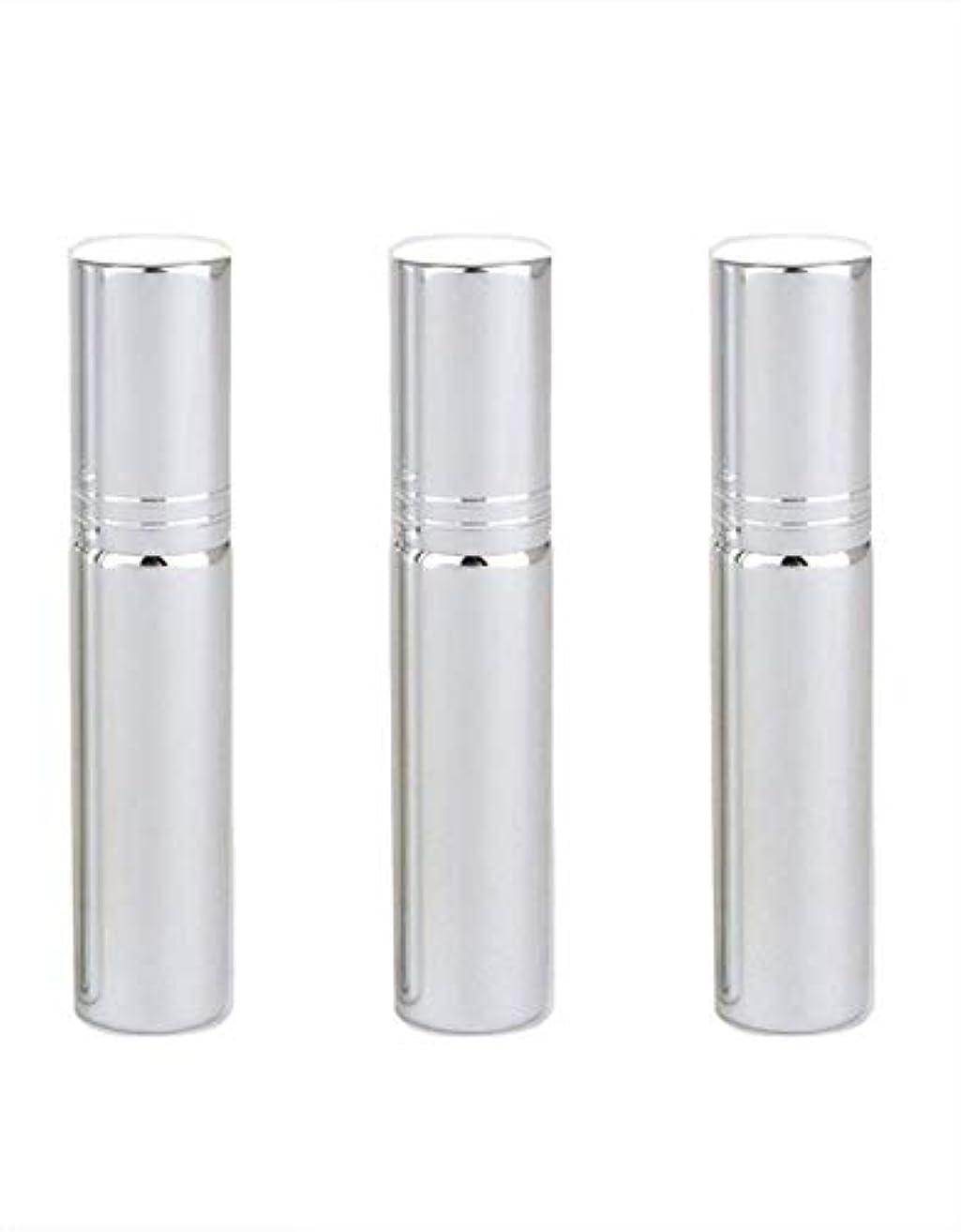 騒々しいパステル中級Flymylion アトマイザー グラスアトマイザー 香水ボトル スプレーボトル 詰め替え容器 旅行 漏れ防止 (銀メッキ)