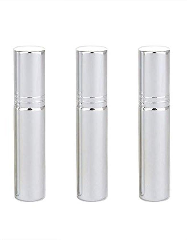 Flymylion アトマイザー グラスアトマイザー 香水ボトル スプレーボトル 詰め替え容器 旅行 漏れ防止 (銀メッキ)