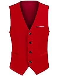 e11714616b6e6 CEEN メンズ スーツベスト 上品 フォーマル おしゃれ ジレベスト スーツ仕立て Vネック カジュアル スリム ビジネス 紳士