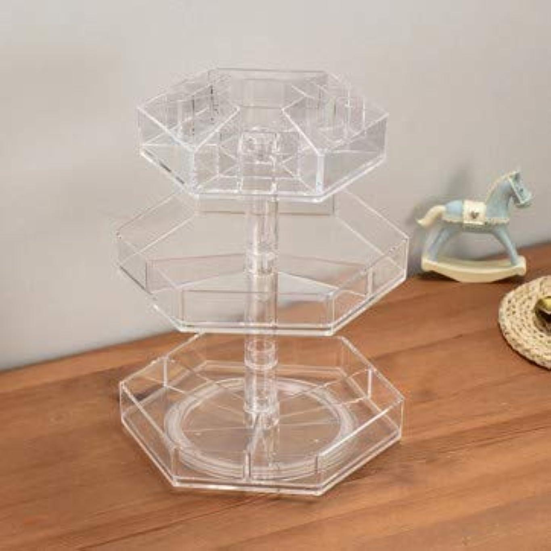 回転化粧品収納ボックス透明化粧台トップシェルフ透明口紅保護シェルフ