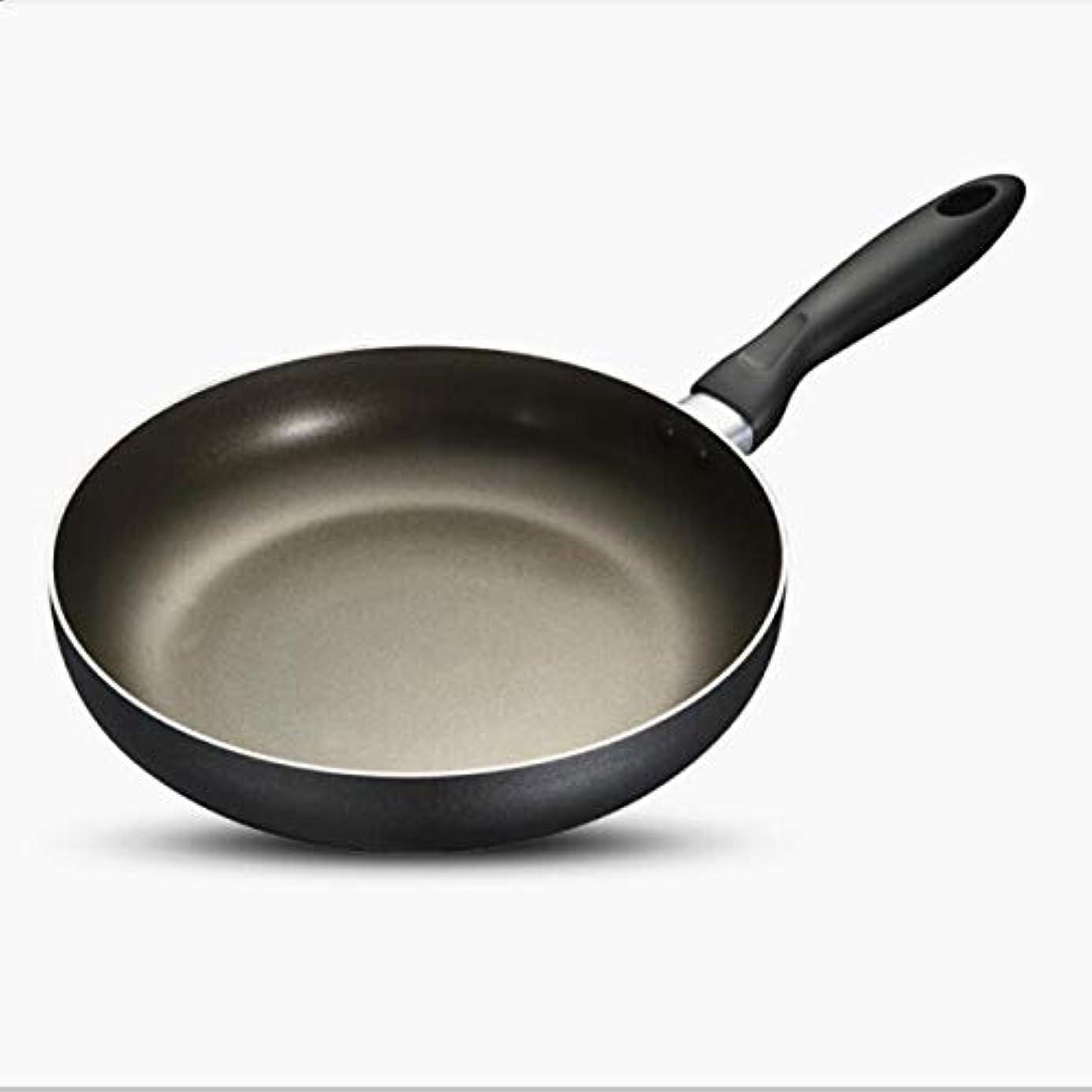 遠い叱る裁判官XIONGHAIZI フライパン、鍋、誘導アルミノンスティックパンとフライパン、シンプルスタイル-10インチ、ブラック