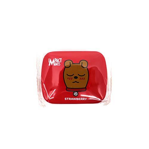インパクトミント X カカオフレンズ 無砂糖キャンディ IMPACT MINTS X KAKAO FRIENDS SUGAR FREE CANDY [並行輸入品] (ストロベリー)