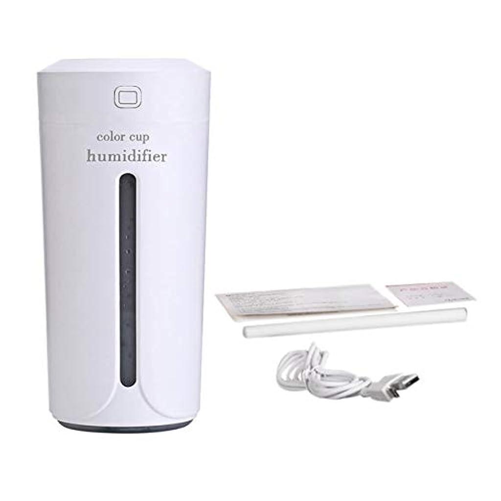 パースに話す工業化するSaikogoods 車のホームのための空気Moistenerノイズレスカラフルなナイトライトミストメーカーを充電ミニカップ形状の空気加湿器USB 白