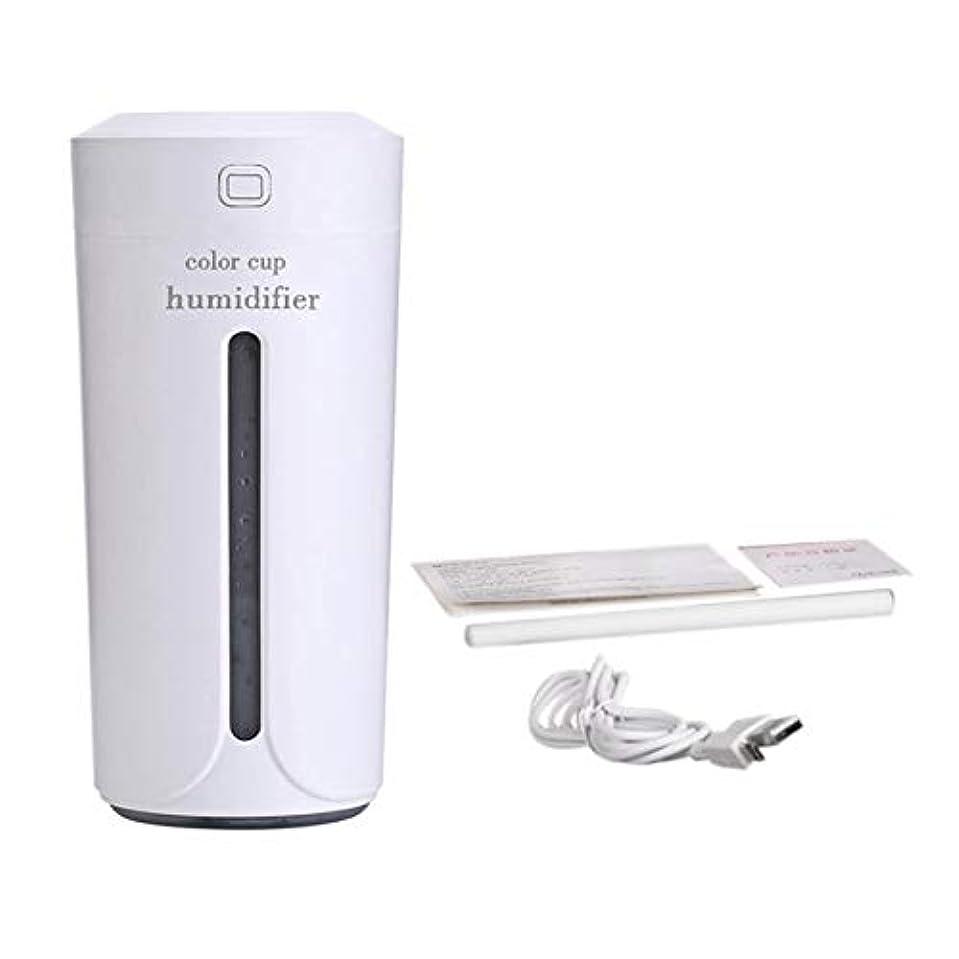 ナイトスポット雑種ミシンSaikogoods 車のホームのための空気Moistenerノイズレスカラフルなナイトライトミストメーカーを充電ミニカップ形状の空気加湿器USB 白