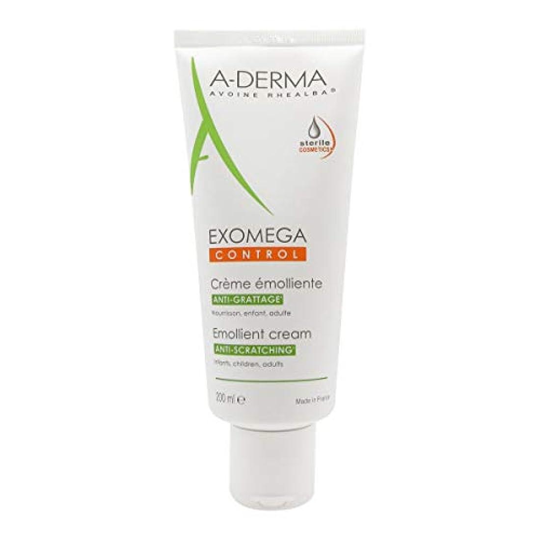 運河ファーム弱まるA-derma Exomega Control Emollient Cream 200ml [並行輸入品]