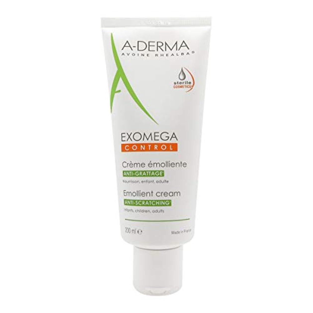 指定深いインディカA-derma Exomega Control Emollient Cream 200ml [並行輸入品]