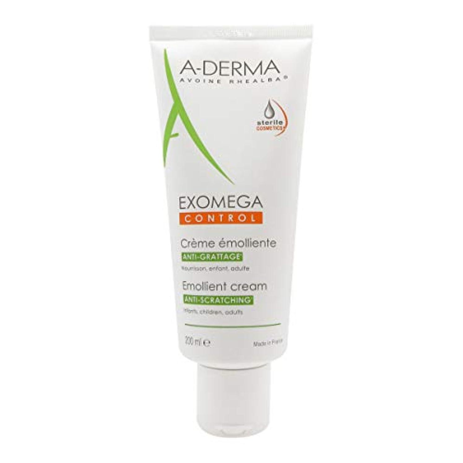 専門化する演じる軍団A-derma Exomega Control Emollient Cream 200ml [並行輸入品]