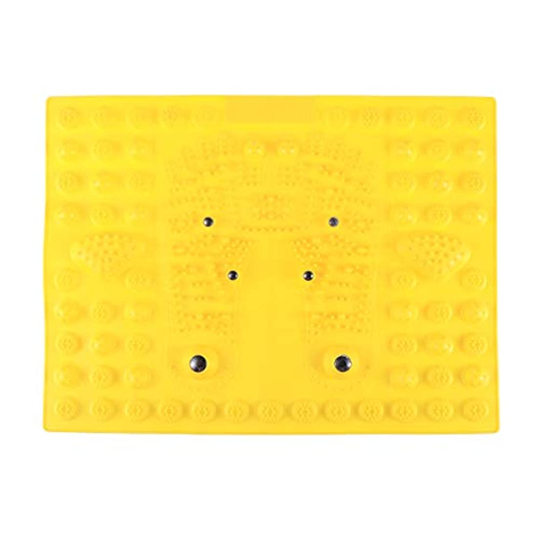 パフクラフト散逸SUPVOX フットマッサージマット指圧リラクゼーションリフレクソロジーマット磁気療法フィートマット(イエロー)