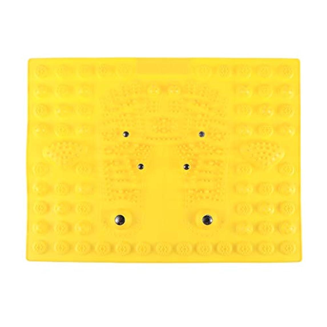 眠っているチョコレート適格SUPVOX フットマッサージマット指圧リラクゼーションリフレクソロジーマット磁気療法フィートマット(イエロー)