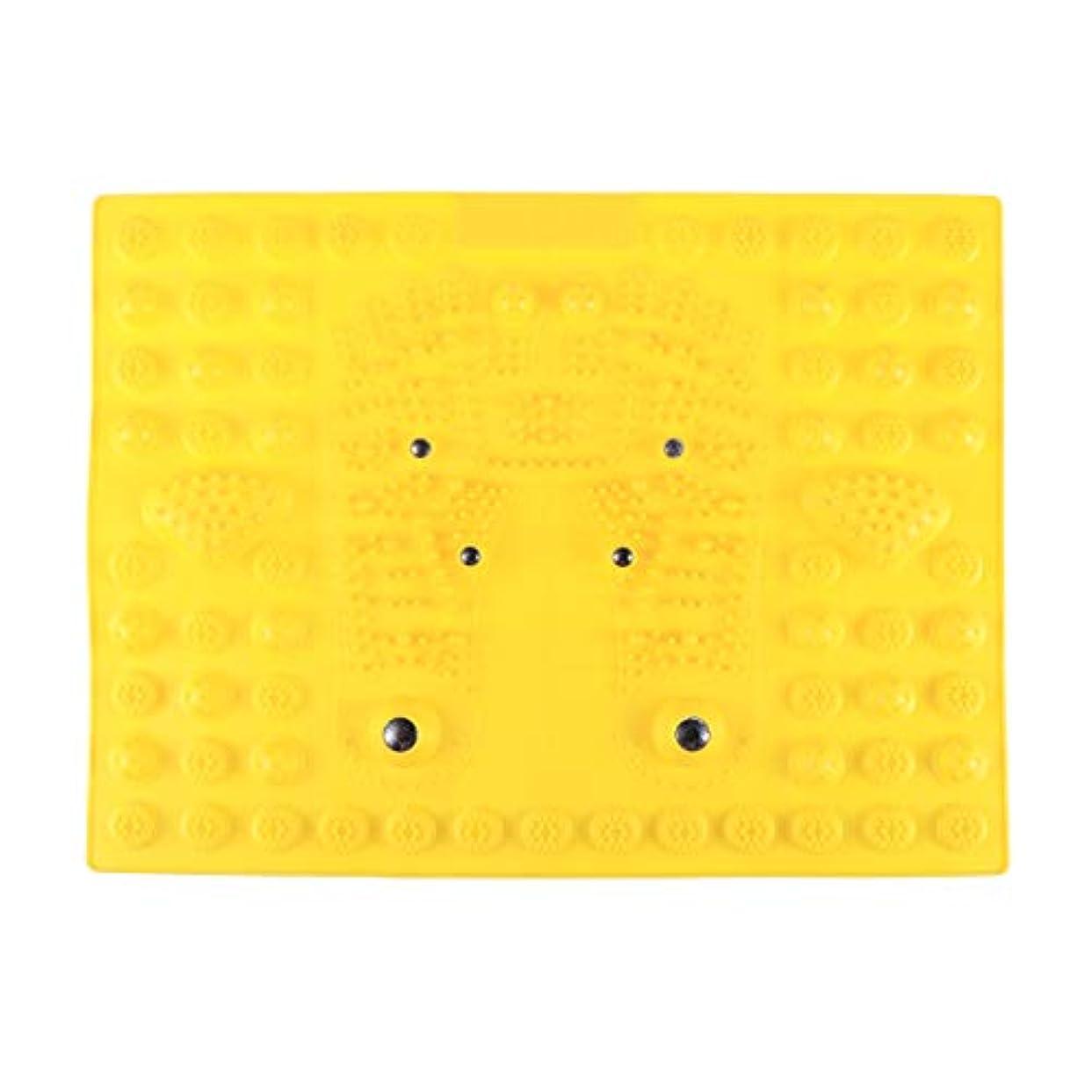 誤解する運動密度SUPVOX フットマッサージマット指圧リラクゼーションリフレクソロジーマット磁気療法フィートマット(イエロー)
