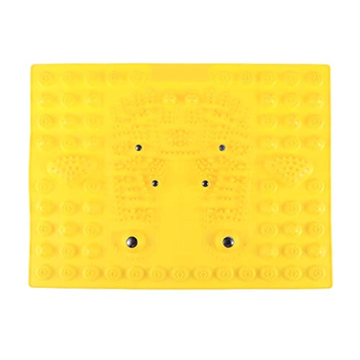 位置する溶かす遊具SUPVOX フットマッサージマット指圧リラクゼーションリフレクソロジーマット磁気療法フィートマット(イエロー)