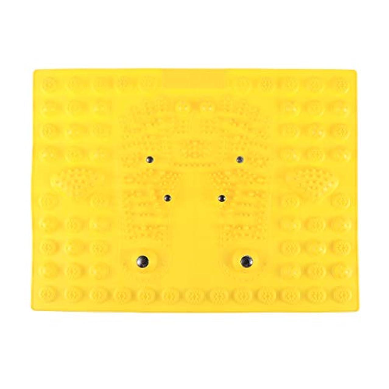 高架批判的にさておきSUPVOX フットマッサージマット指圧リラクゼーションリフレクソロジーマット磁気療法フィートマット(イエロー)