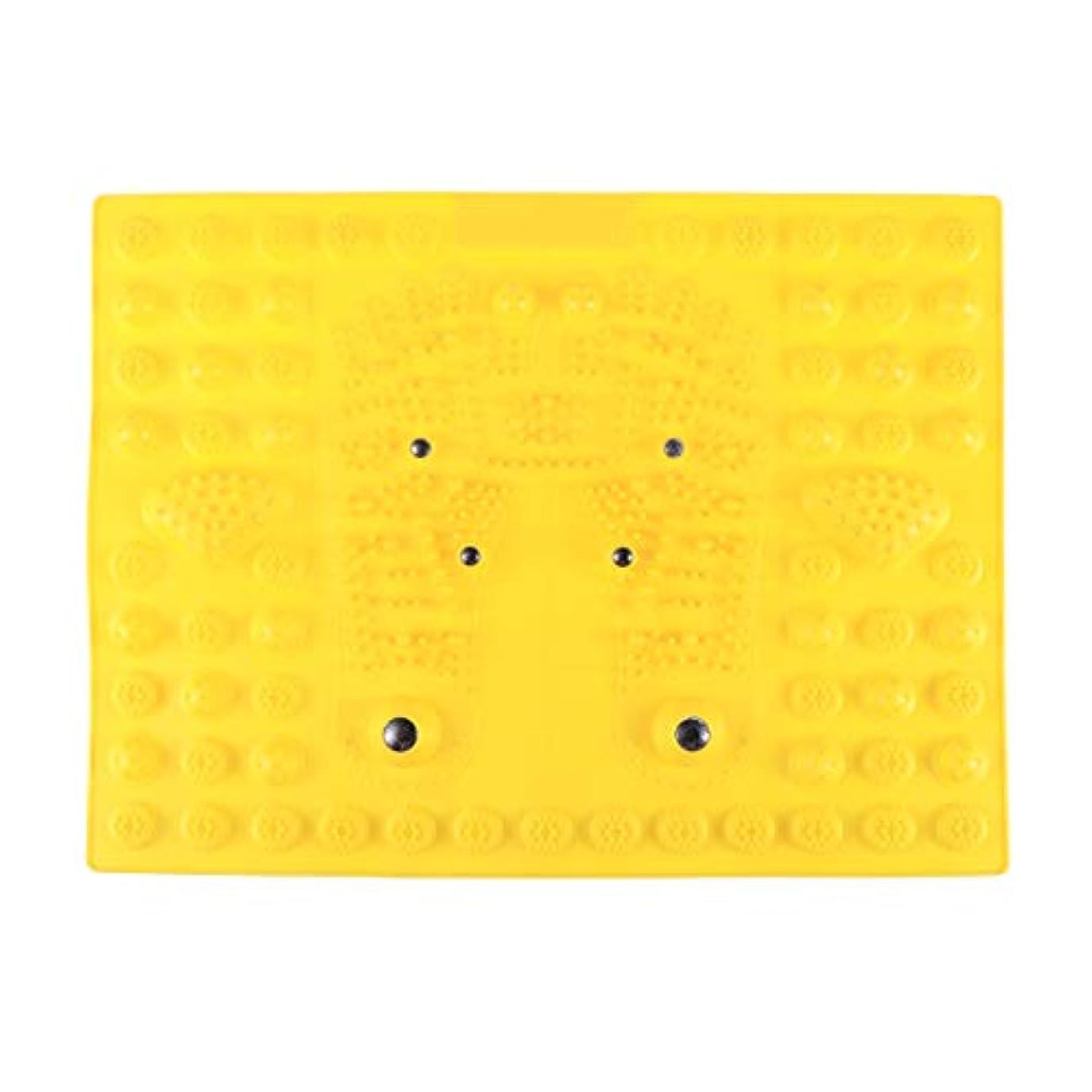 適性ポインタでもSUPVOX フットマッサージマット指圧リラクゼーションリフレクソロジーマット磁気療法フィートマット(イエロー)