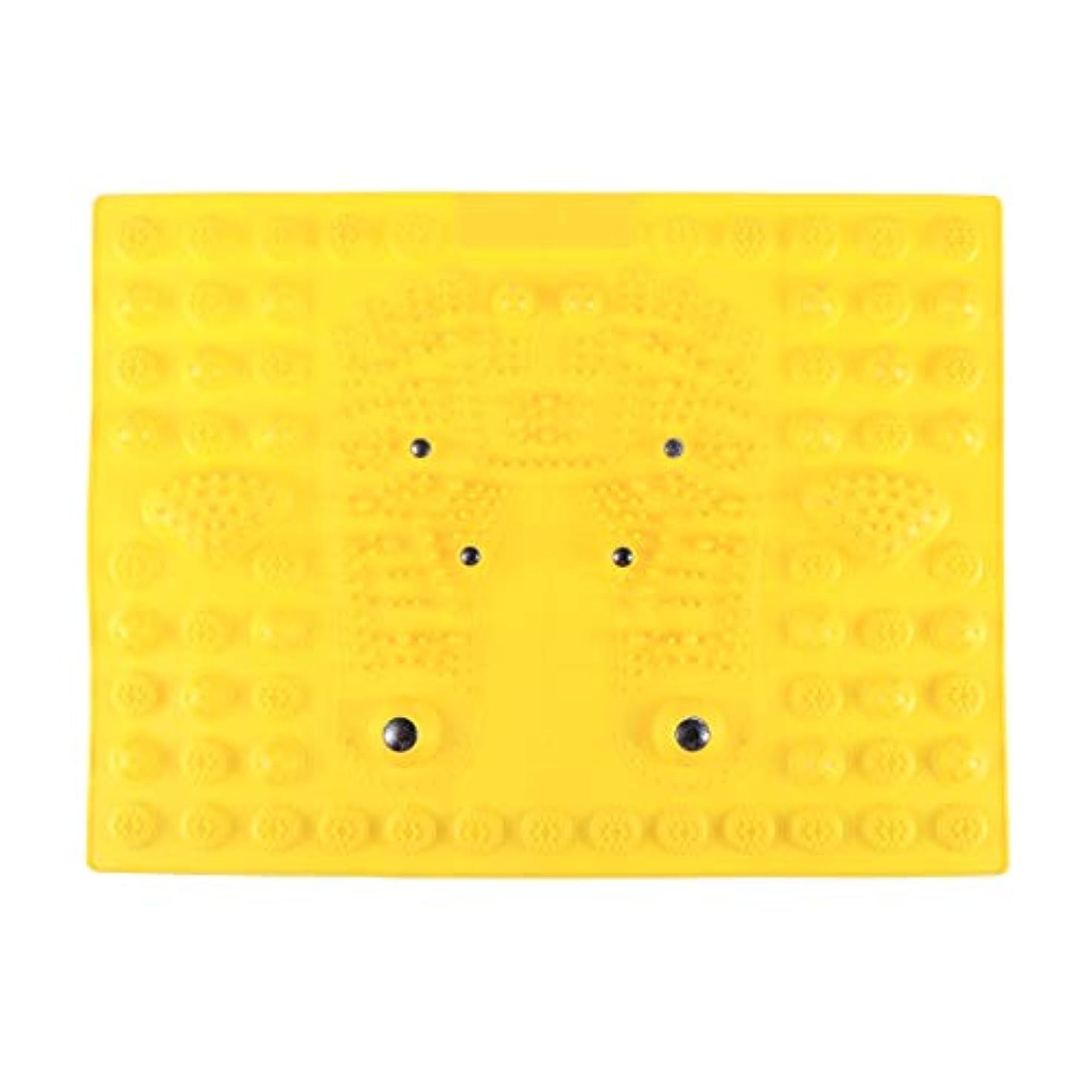 模倣紛争ナビゲーションSUPVOX フットマッサージマット指圧リラクゼーションリフレクソロジーマット磁気療法フィートマット(イエロー)