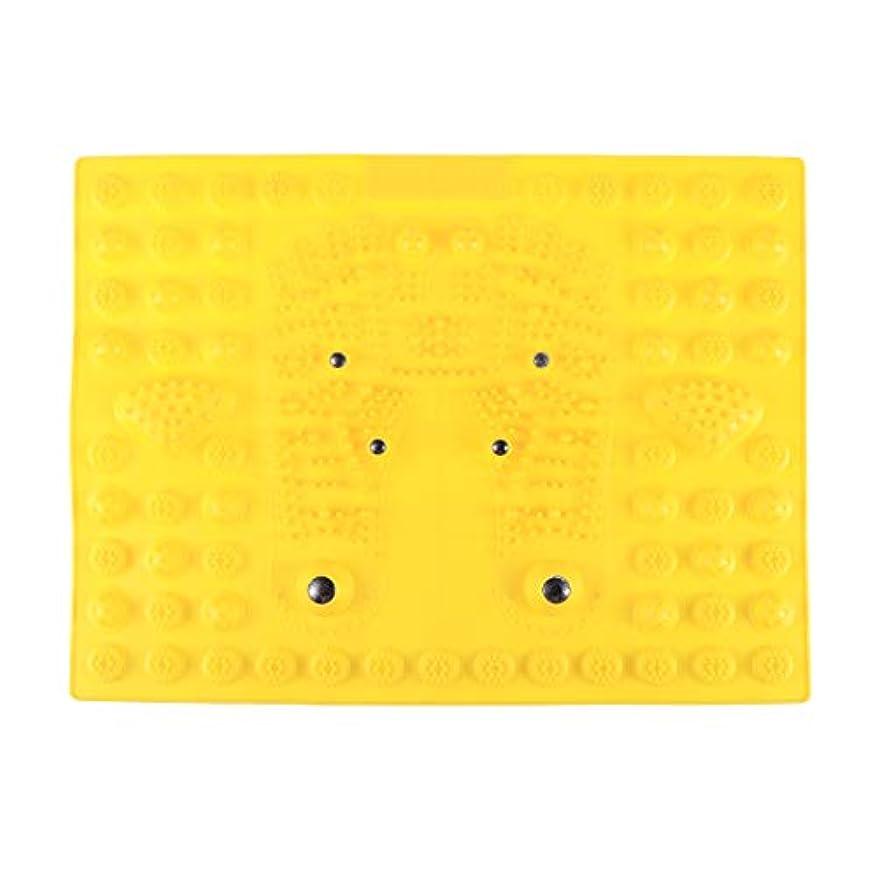 SUPVOX フットマッサージマット指圧リラクゼーションリフレクソロジーマット磁気療法フィートマット(イエロー)