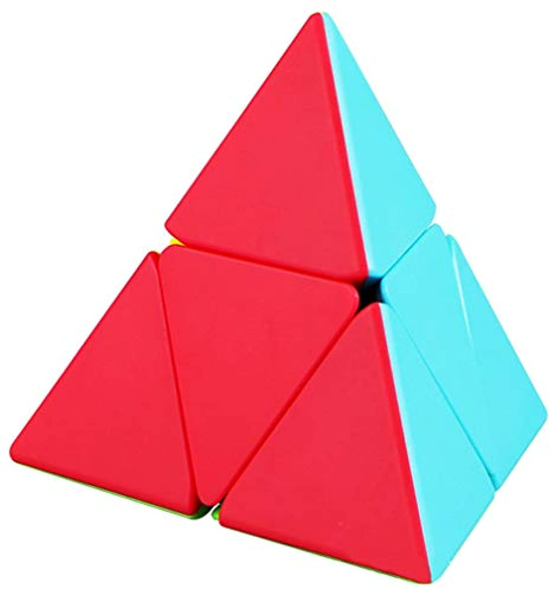力イーウェル安定しましたTANCH QIYI ピラミッドスピードキューブ 2X2 三角マジックキューブパズル おもちゃ カラフル