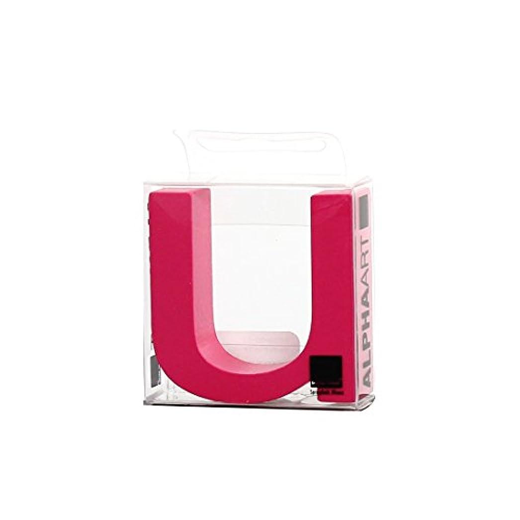 感謝するモールリールカメヤマキャンドルハウス アルファベットブロック カラフル  アルファアートスモールu 「 ピンク 」