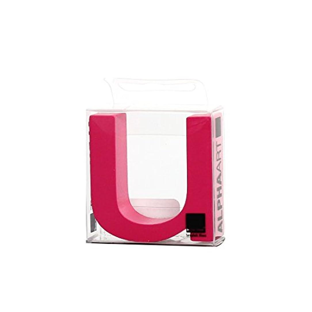 本質的ではない調和インセンティブカメヤマキャンドルハウス アルファベットブロック カラフル  アルファアートスモールu 「 ピンク 」