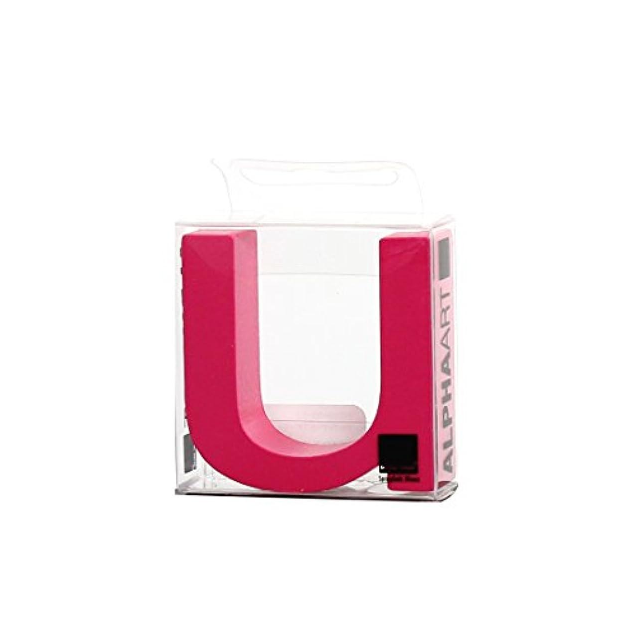 悲しむ蒸し器変形するカメヤマキャンドルハウス アルファベットブロック カラフル  アルファアートスモールu 「 ピンク 」