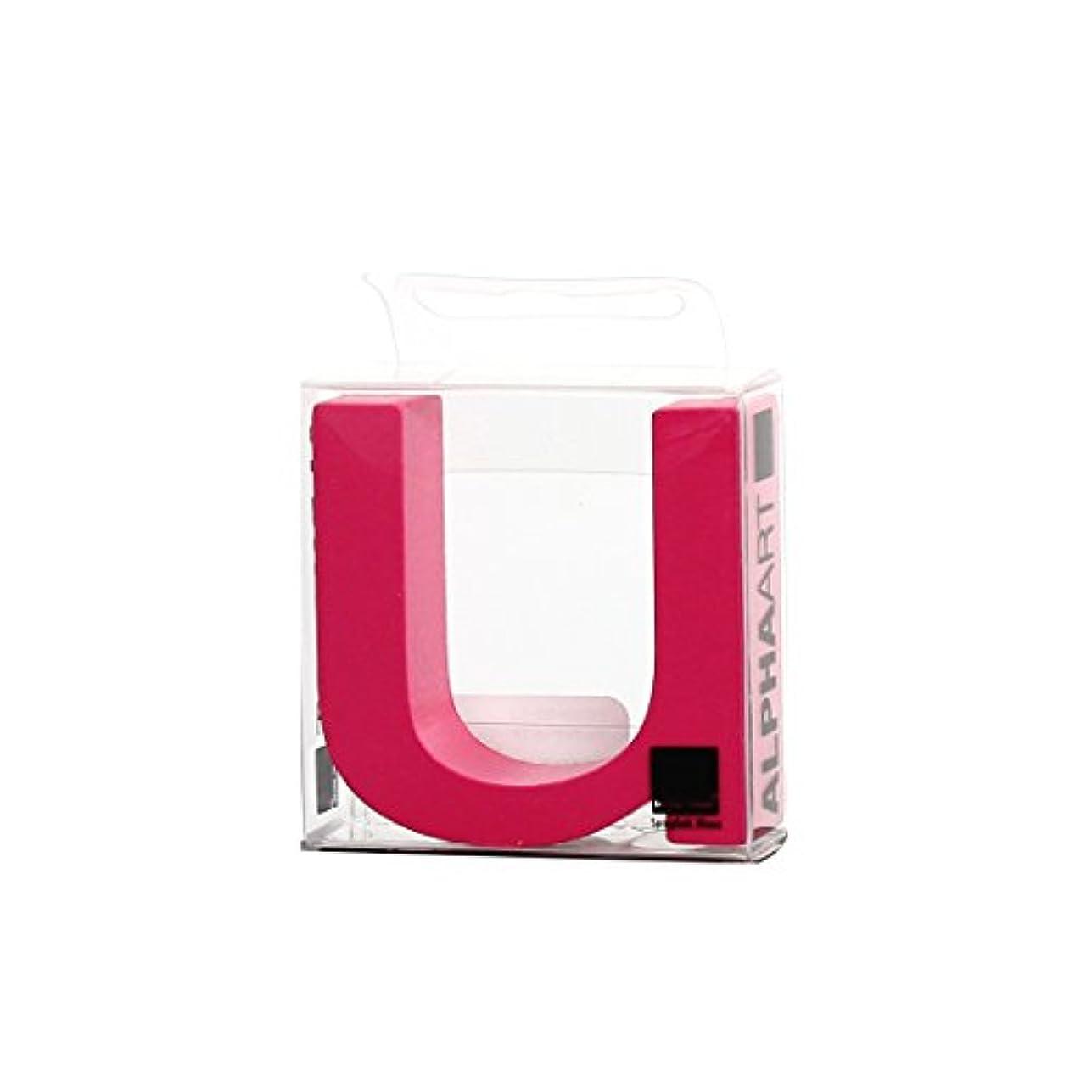 有名なモディッシュ起きてカメヤマキャンドルハウス アルファベットブロック カラフル  アルファアートスモールu 「 ピンク 」