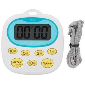 オーム電機 キッチンタイマー(デジタル) ホワイト 寸法:W8.1 × H7.7 × D1.6 cm