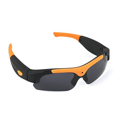 サングラスカメラ メガネカメラ ICOCO メガネ型ビデオカメラ スポーツカメラ ビデオカメラ 1080P HD高画質  高解像度スポーツサングラス型  DVカムDVRビデオレコーダーハイビジョンビデオ&カメラ メガネ 小型カメラ 防犯 録画(イエロー)
