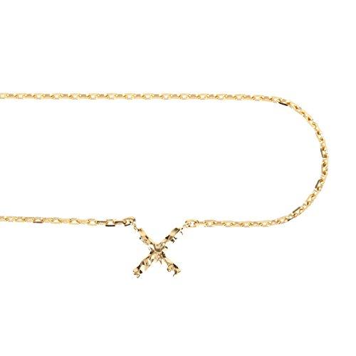 """[해외]K18 골드 X 크로스 발목 """"무기질 느낌이 버릇없는 개성파 디자인""""/K18 Gold X Cross anklet """"Individualistic design without habit of mineral feeling"""""""