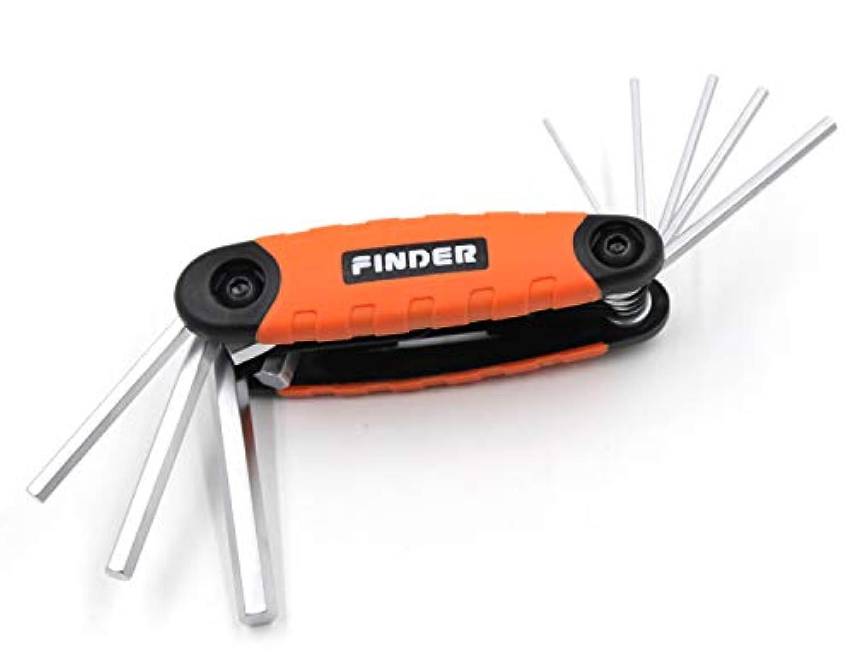 折込式六角棒レンチ ナイフ型 トルクスドライバー セット 直径1.5/2/2.5/3/4/5/6/8mm 折りたたみ式 クロームバナジウム鋼 スタビータイプ 六角レンチセット