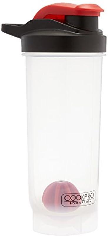 レルム信頼性キュービックCook Pro プラスチックスポーツプロテインミキシングボトル クリア