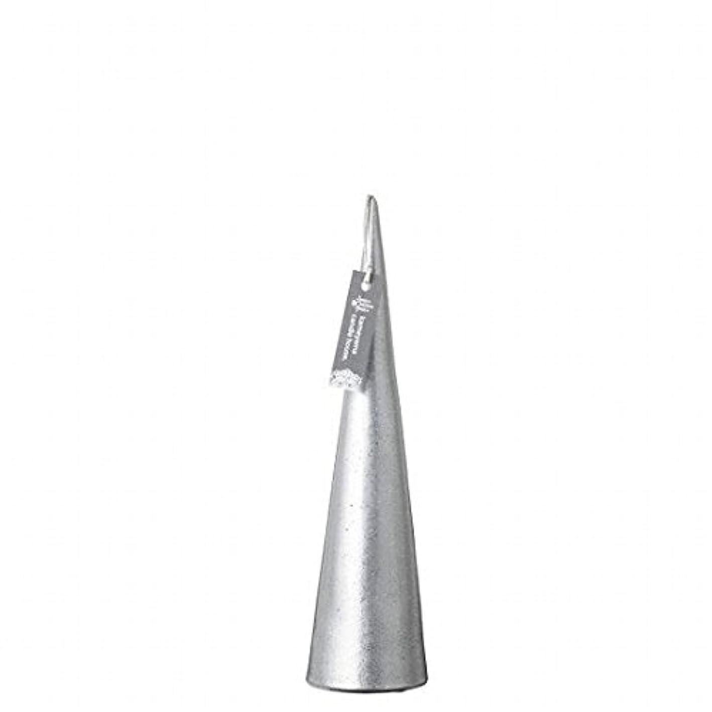 化学薬品キャンセル方向カメヤマキャンドル(kameyama candle) メタリックコーンM 「 シルバー 」