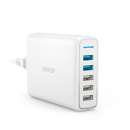 Anker PowerPort Speed 5 (QC3.0 2ポート搭載、63W 5ポート USB急速充電器) iPhone、Android各種対応(ホワイト)